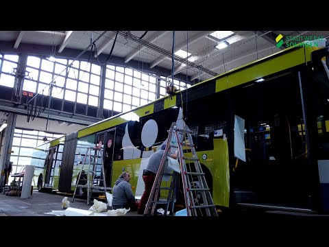 "Busbeklebung ""Schutzengel Plus"" der Stadtwerke Solingen"
