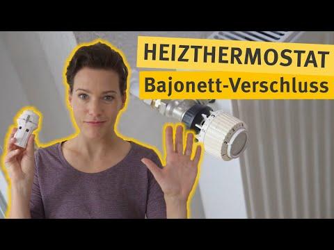 Do-it-yourself: Thermostat mit Bajonettverschluss tauschen