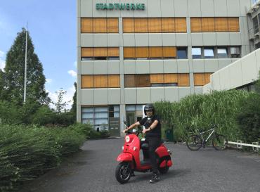 Elektro-Roller der Stadtwerke Solingen - ein Fahrbericht.