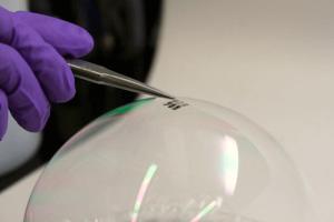 Solarzelle auf einer Seifenblase