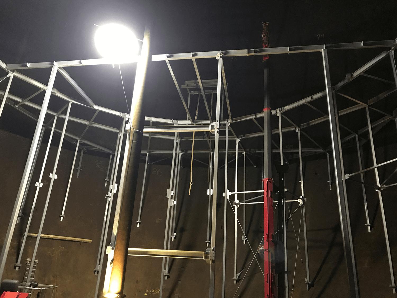 Gaskugel Ohligs - Innenansicht, Quelle: Sternwarte Solingen