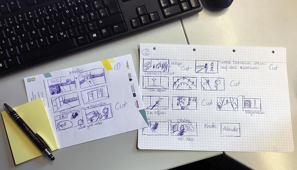 Azubi-Kurzfilm - Storyboard