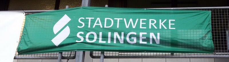 Banner beim Stadtwerke Solingen Cup 2018