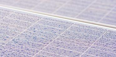 Solarzellen im Regen