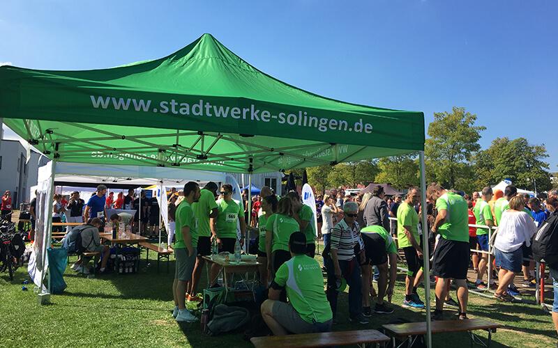 Miss Zöpfchen-Lauf 2018 - Pavillon der Stadtwerke Solingen