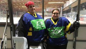 Eishockey - Eileen und Elisa Bendig