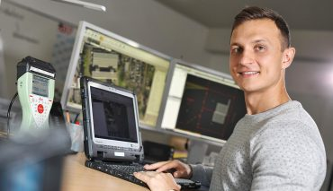 Vermessungstechniker - Azubi der Stadtwerke Solingen