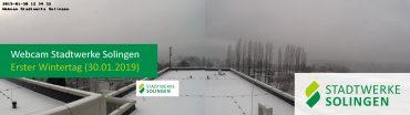 Schneefall in Solingen (Webcam der Stadtwerke Solingen)