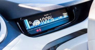 E-Auto-Cockpit - Anzeige der Reichweite