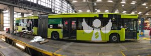 "Busbeklebung der Stadtwerke Solingen ""Schutzengel Plus"" (April 2019)"