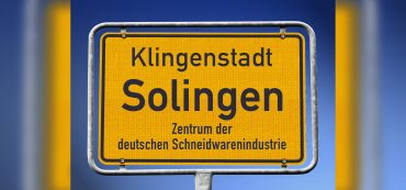 Ortsschild Klingenstadt Solingen