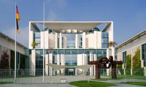 Berlin: Bundeskanzleramt von außen