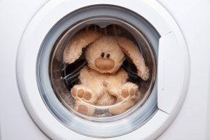 Kuscheltier in Waschmaschine