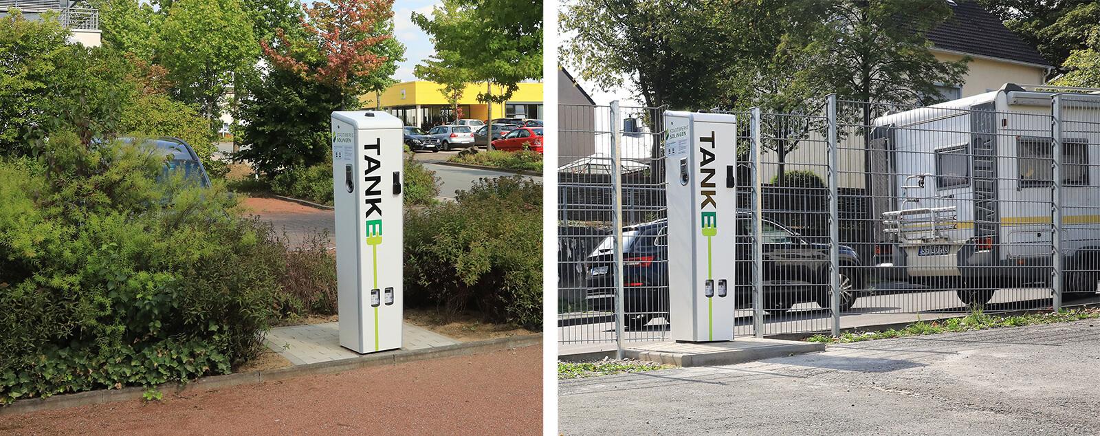 Tanke-Ladestationen von den TBS in Solingen
