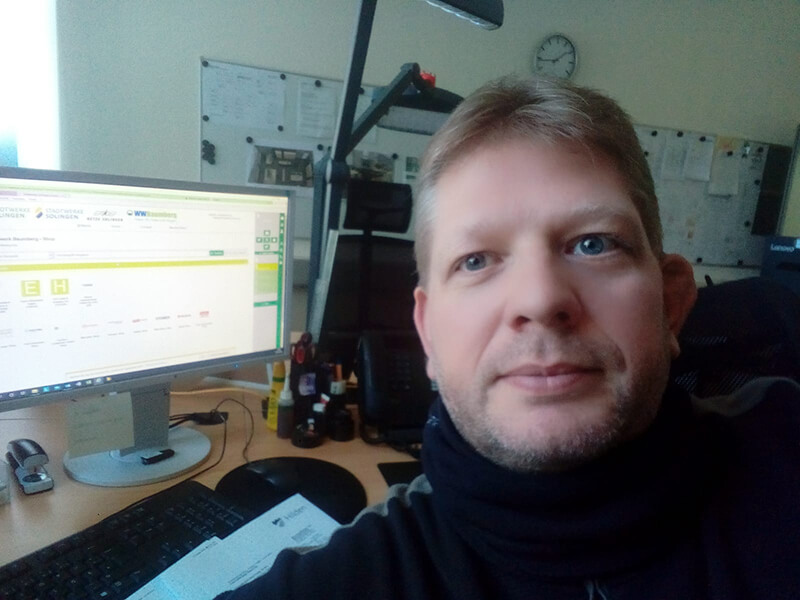 Andre Saniewski (Wasserwerk Baumberg)