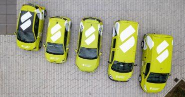 Fuhrpark der Stadtwerke Solingen mit E-Autos