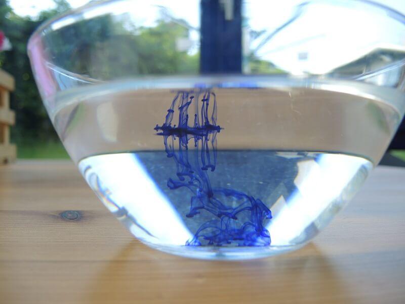 Wasser-Experiment - Tinten-Tornado