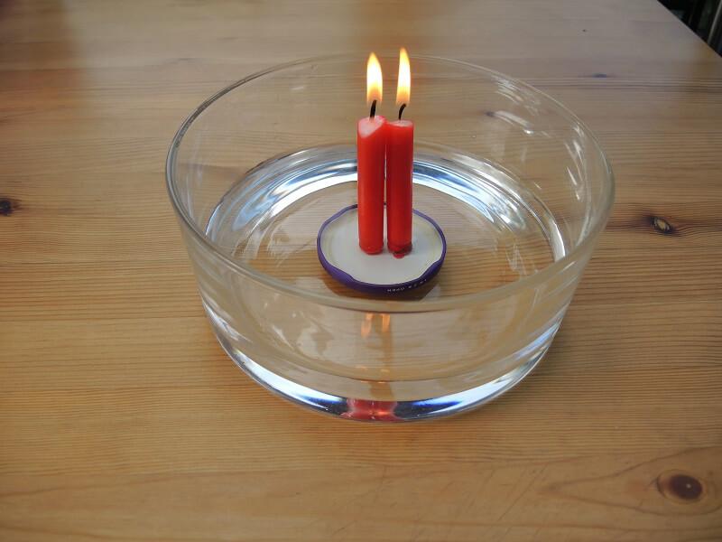 Wasser-Experiment - Unterdruck im Wasserglas
