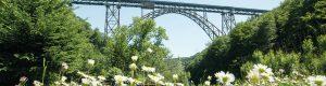 Müngstener Brücke im Brückenpark Müngsten in Solingen
