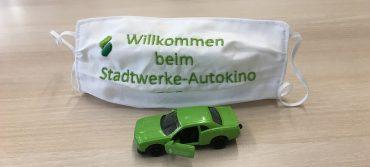 Mund-Nasen-Maske zum Stadtwerke-Autokino 2020