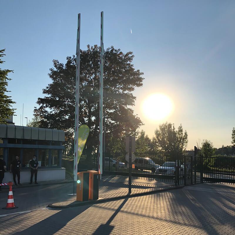 Stadtwerke-Autokino 2020 - Sonnenuntergang über Solingen
