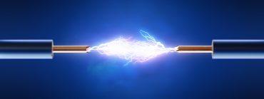 Elektrischer Funken Stromkabel