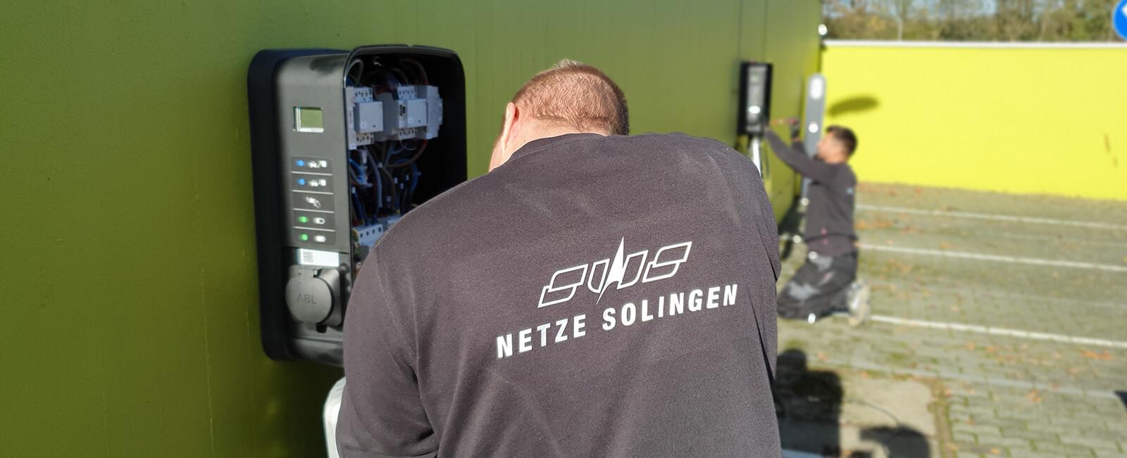 Mitarbeiter Wallboxen Installation Stadtwerke Solingen