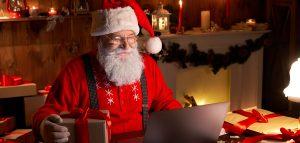 Weihnachten Weihnachtsmann Laptop