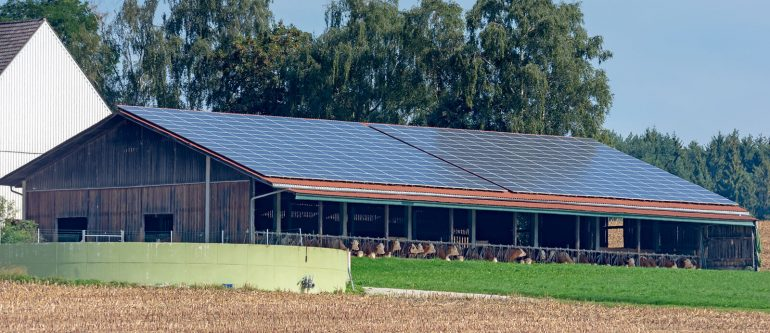 Stall mit Solaranlage