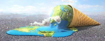 Welt schmilzt Eistüte