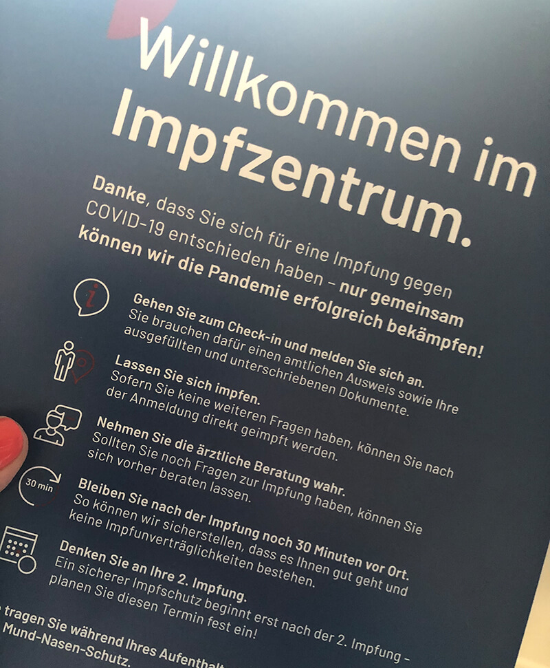 Willkommen im Impfzentrum Solingen