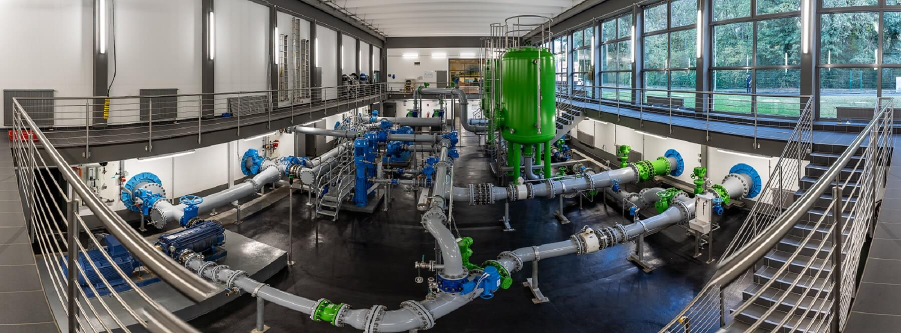 Wasserwerk Baumberg - Pumpenhalle