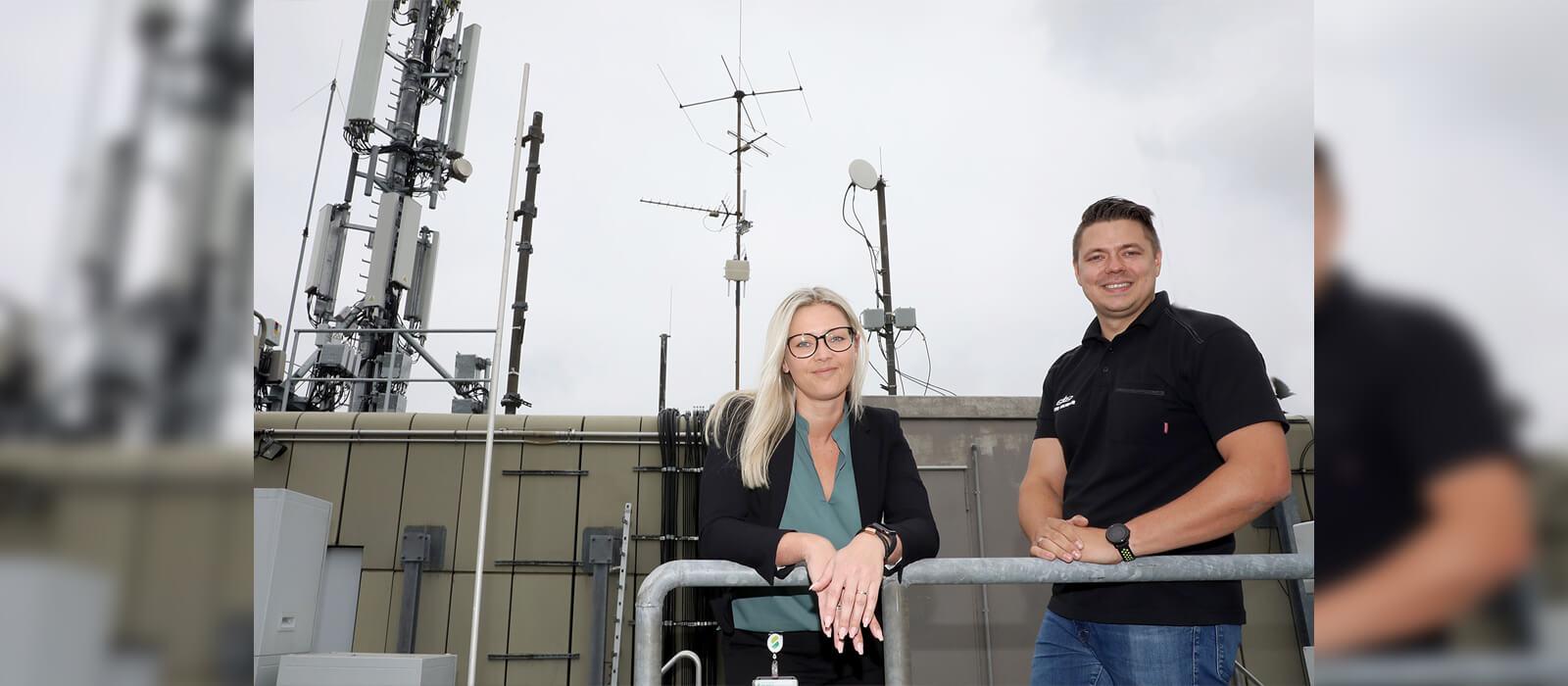 LoRaWAN-Antenne der Stadtwerke Solingen (Martina Gärtner und Basti Beier)